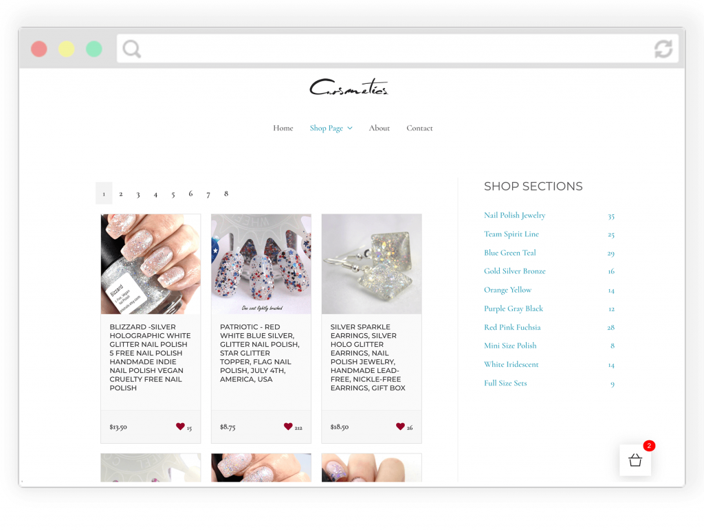 Embed your Etsy shop in your Squarespace, WordPress, Site123, Weebly website